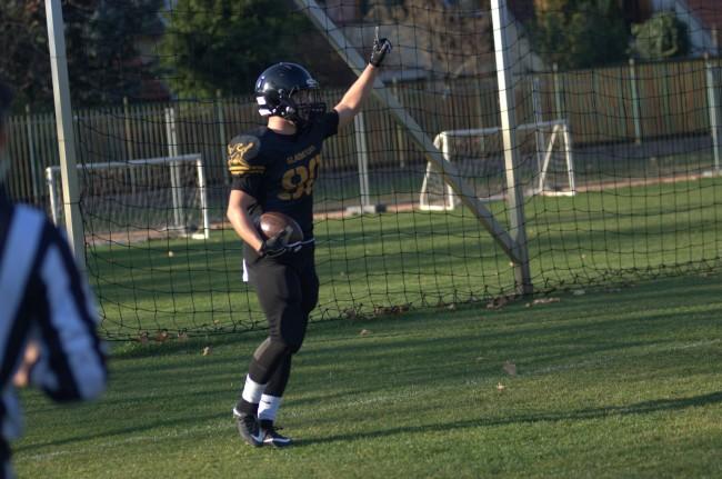 Boruzs Kevin örül touchdownjának (Ábrán Szabolcs)